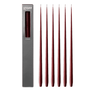 6 STOFF candles burgundy red