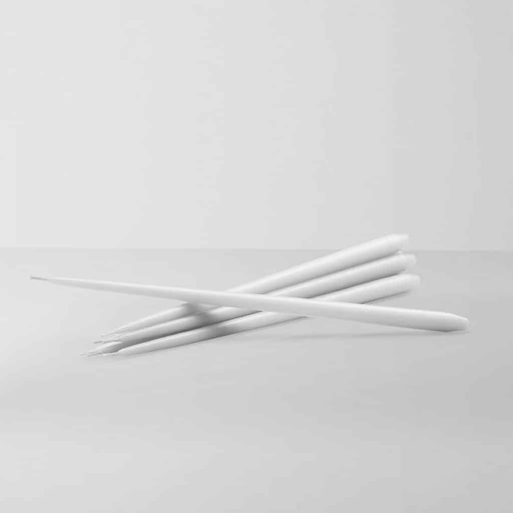 6 bougies STOFF - Blanc