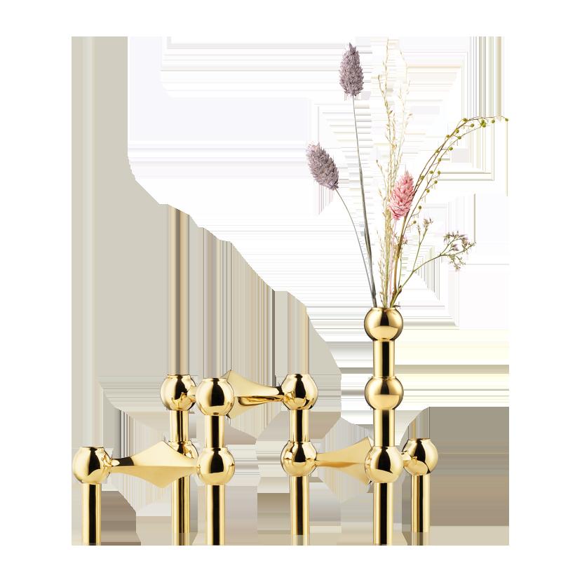 Vase STOFF laiton